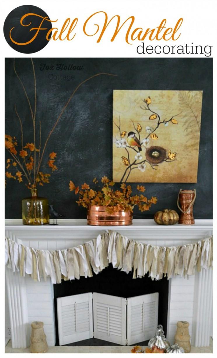 Fall Mantel Decorating, Fox Hollow Cottage | #Fall #damagefreediy #ad #manteldecor
