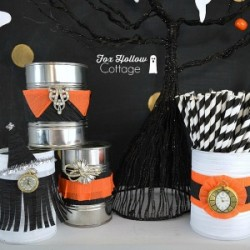Halloween Tin Can Craft - foxhollowcottage.com