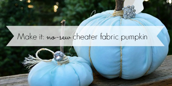 No Sew Fabirc Pumpkin Craft Slider