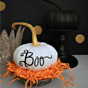 Painted Pumpkin Craft foxhollowcottage.com 300