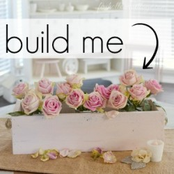 Shabby Cottage DIY Home Decor Wood Trough Box Centerpiece 300