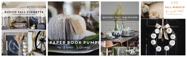 Upcycled Treasures Fall Projects