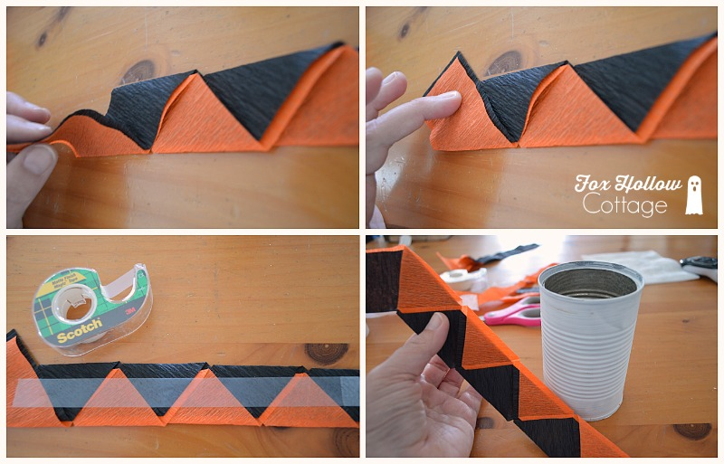 Halloween Tin Can Craft - Tutorial at foxhollowcotttage.com