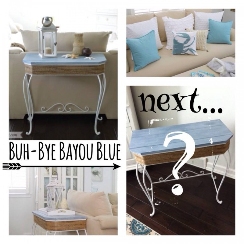 Bayou Blue Painted Furniture Makeover DIY Home Decor Decorating