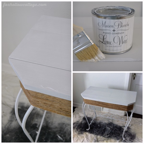 Lime Wax Chalk Paint Painted Furniture Makeover - White Gray Grey