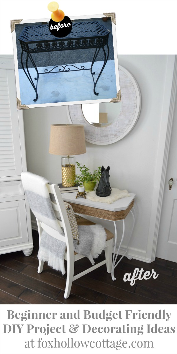 Before and After DIY Home Decor - Painted Furniture Makeover at foxhollowcottage 600