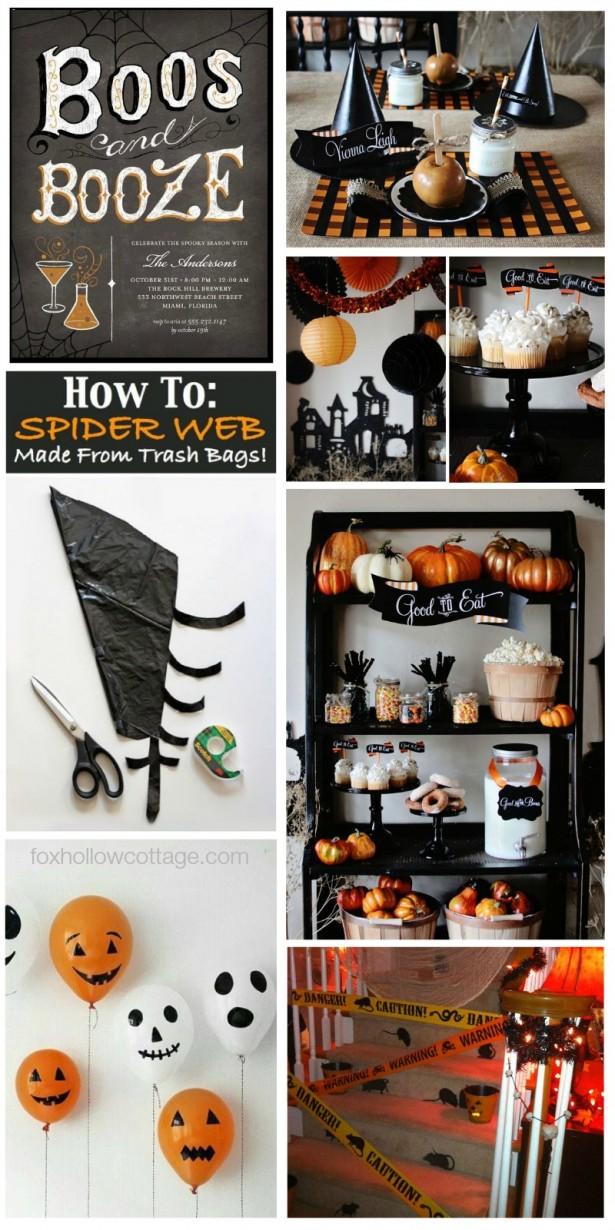 Black and Orange Halloween Party Decorating Ideas