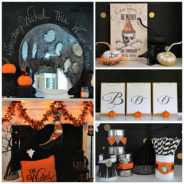 Halloween Decor Craft Pumpkins foxhollowcottage