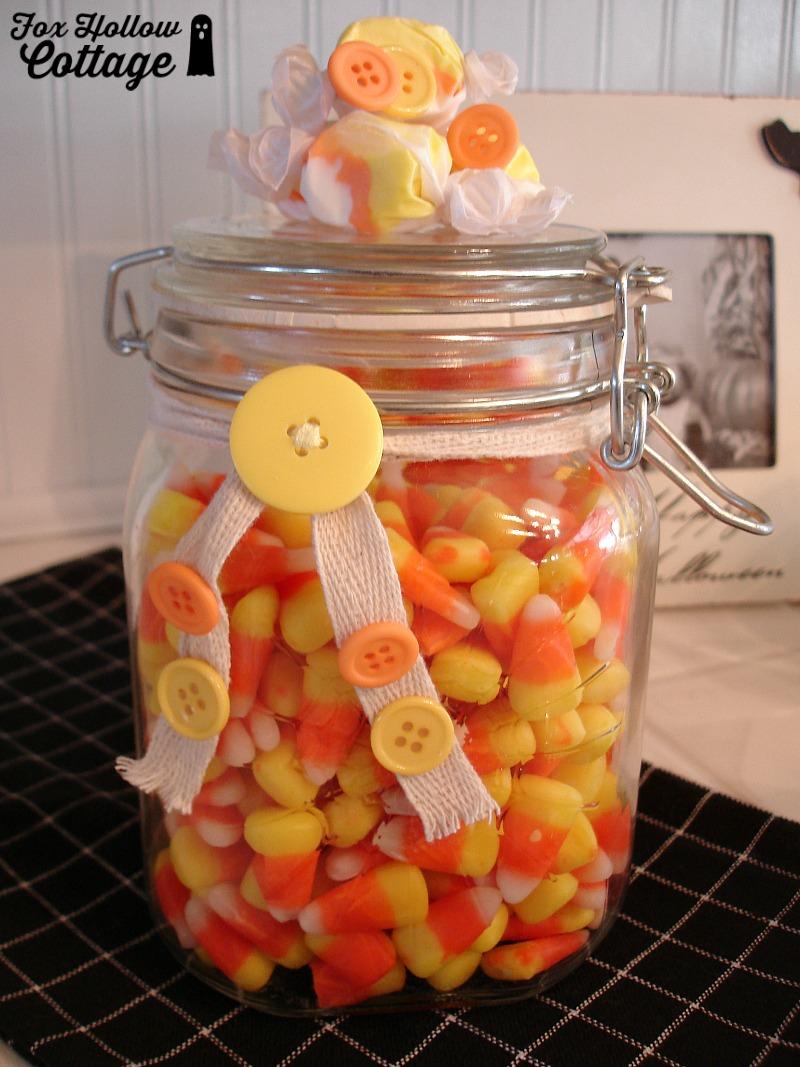 Halloween Mason Candy Jar 1