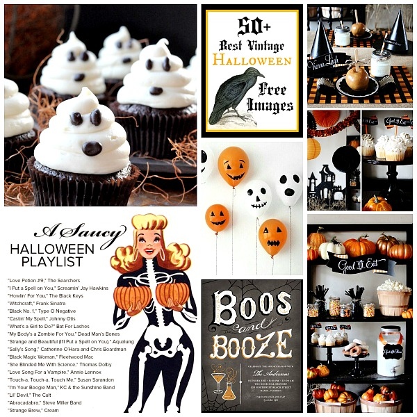 Halloween music play list party decorations food drink and costume ideas! Last minute holiday prep inspiration www.foxhollowcottage.com