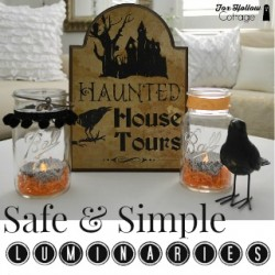 Safe and Simple Halloween Mason Jar Luminaries