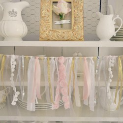 Pink and Gold Budget Bridal Shower Party Decorating Ideas