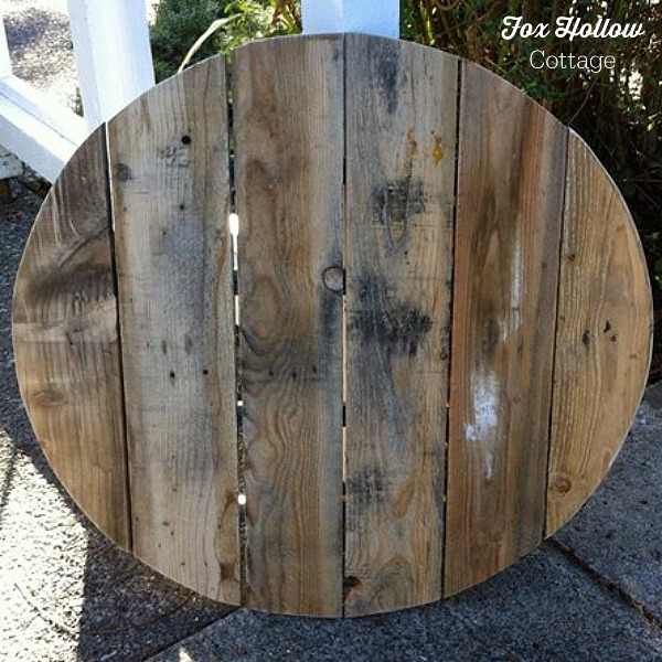 Make Pallet Wood Into A Circle! foxhollowcottage
