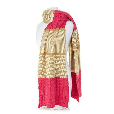 Pink & Gold Womens Scarf
