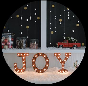 2 Marshmallow snow Christmas decorating idea