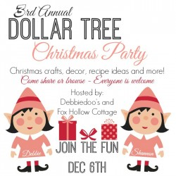 3rd Annual Dollar Tree Christmas Craft Decor Recipe Idea Party
