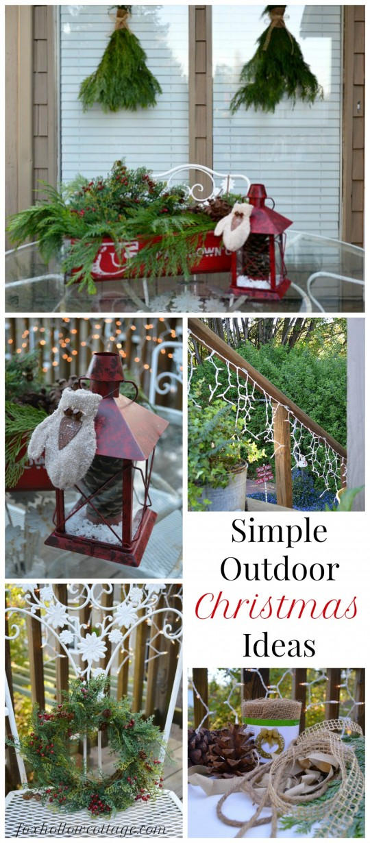 Simple outdoor christmas decorating ideas christmas decore for Easy front porch christmas decorations