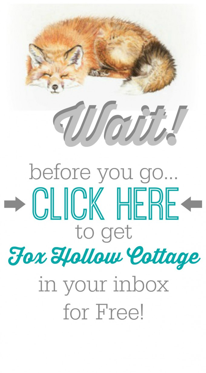 Subscribe to Fox Hollow Cottage blog for Free