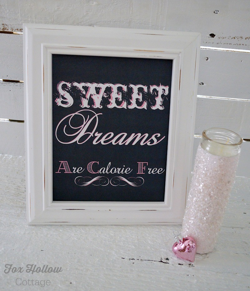 Swet Dreams Are Calorie Free printable foxhollowcottage