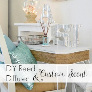 diy reed diffuser and custom scent