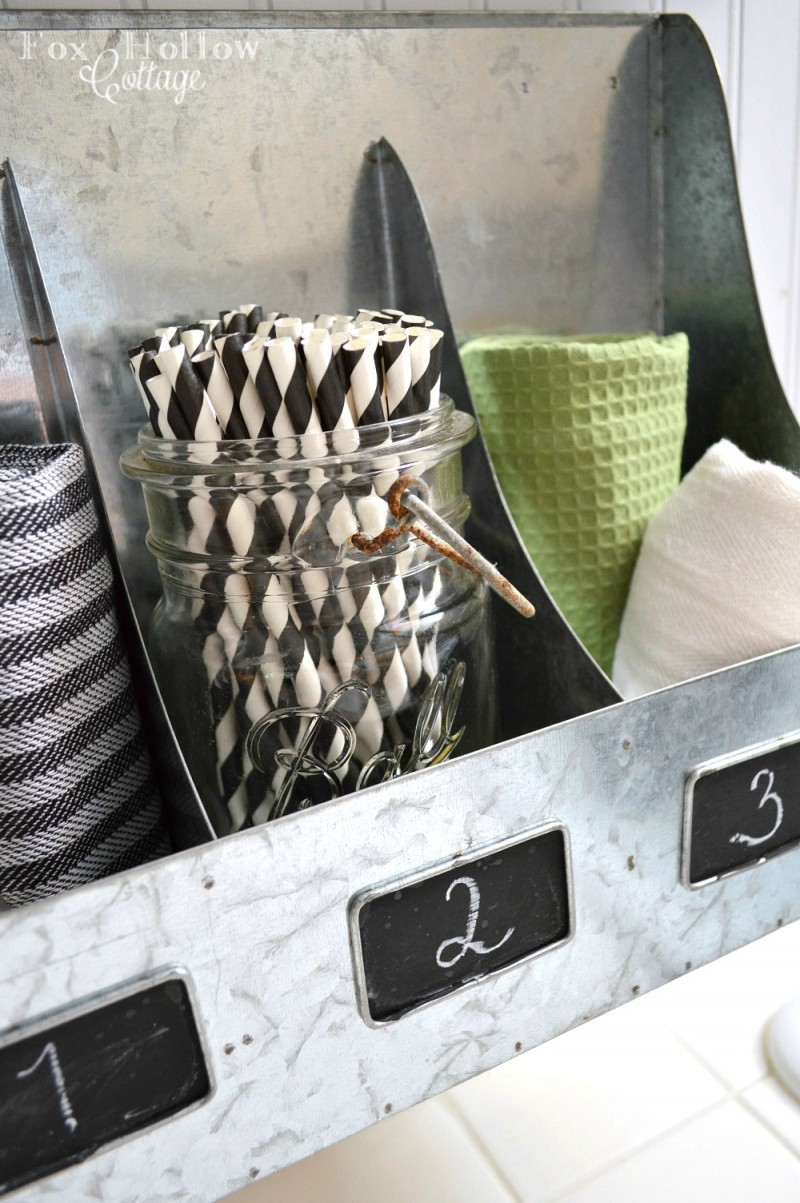 galvanized metal wall organizer