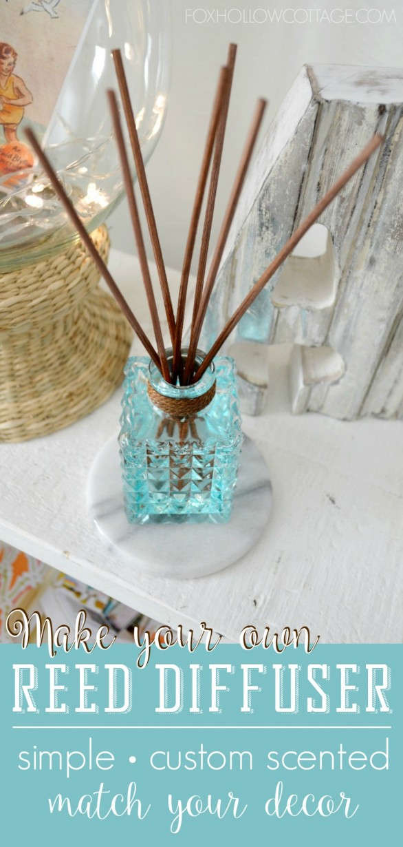 How to make a natural reed diffuser and diy a custom for Decorative diffuser