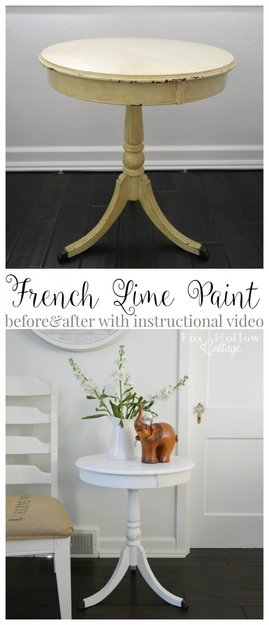 French Lime Paint Before and After Furniture Makeover with Instructional Video - Maison Blanche Paint Company