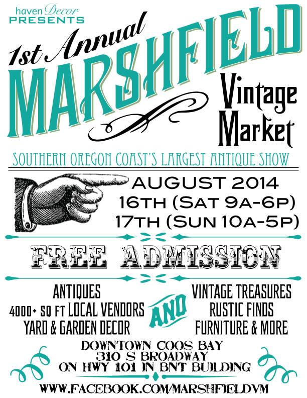 marshfield vintage market coos bay north bend oregon