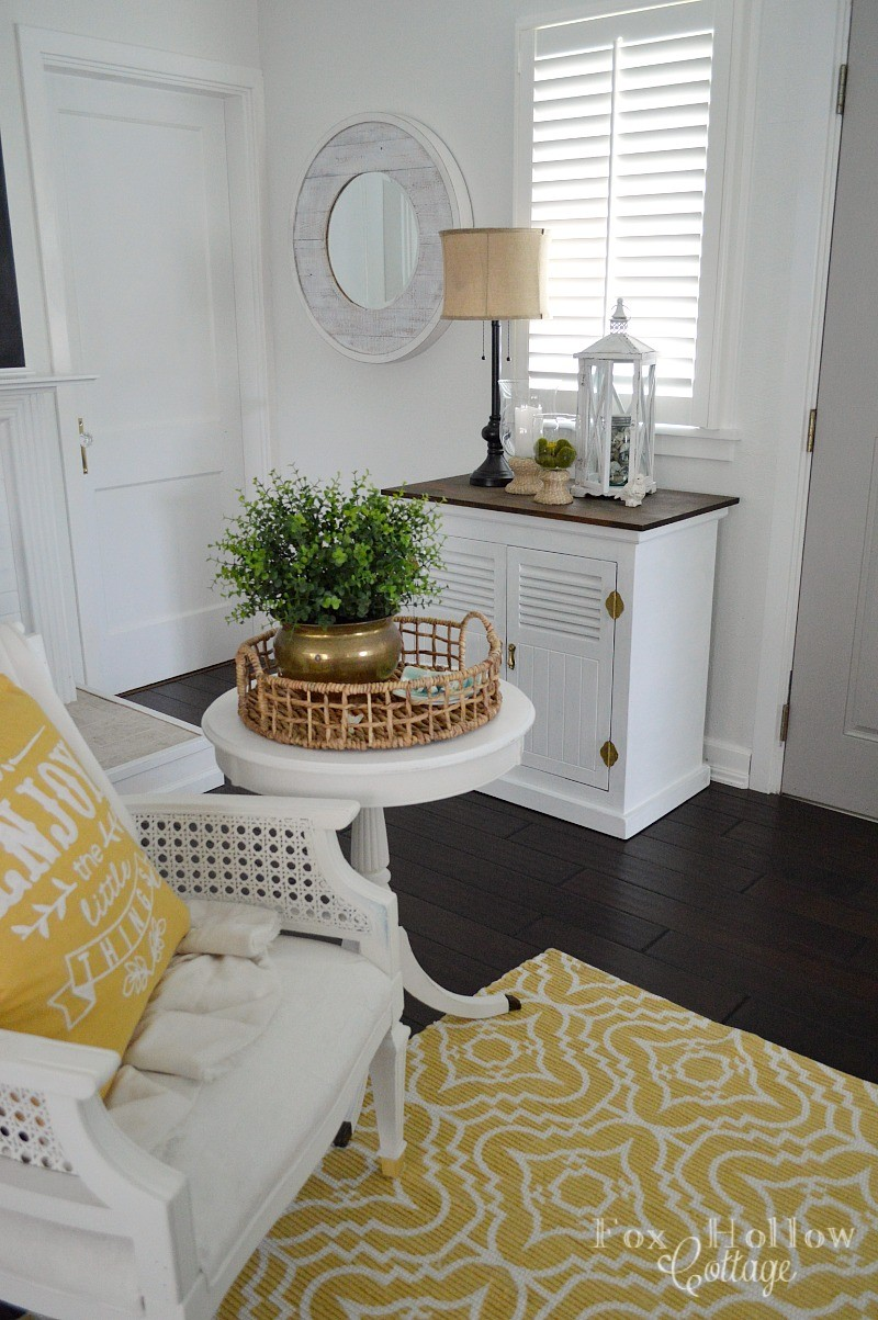 Enjoy The Little Things HomeGoods Pillow Room Refresh and New Grey Door foxhollowcottage