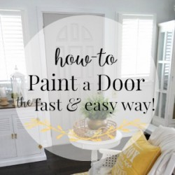 How-To paint a door quickly and easily! My new grey door at foxhollowcottage.com  Plus! how to try a paint color without paiting or buying paint samples 300X