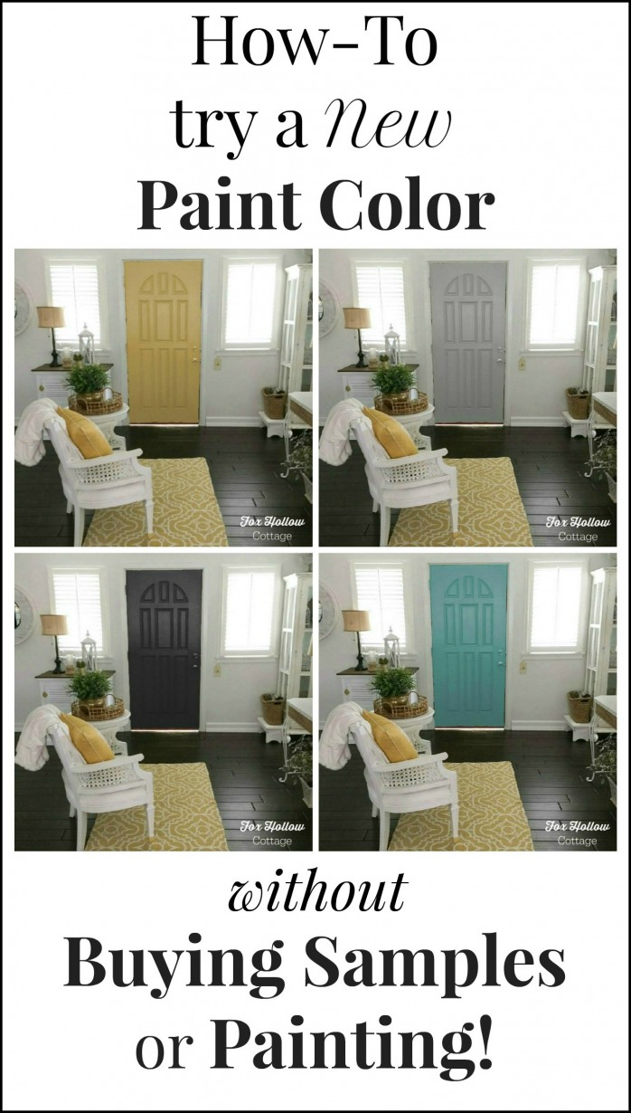 How to try a new paint color without buying samples or painting - foxhollowcottage.com