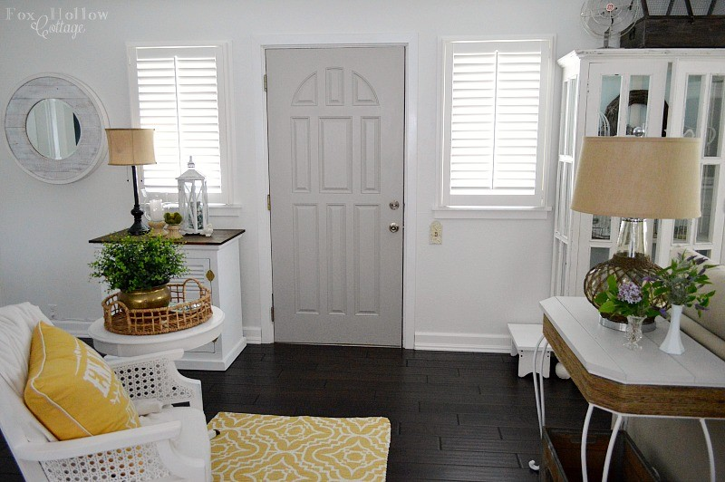 Living room refresh - new grey door - foxhollowcottage