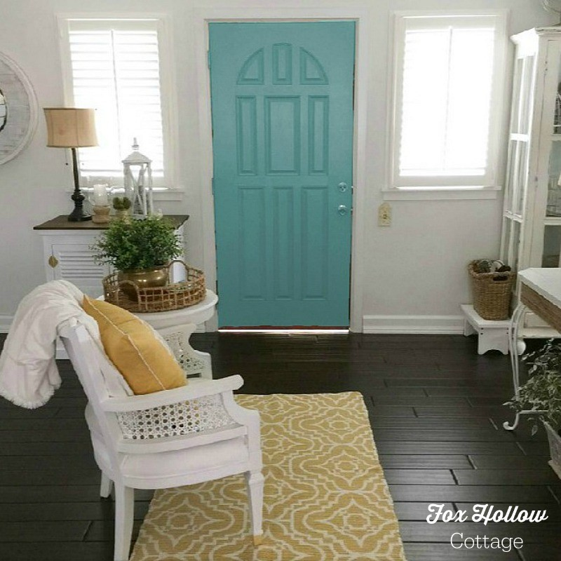 Sherwin Williams Color Visualizer - Lagoon - How to try a new paint color without buying samples or painting - save time money frustration - foxhollowcottage.com