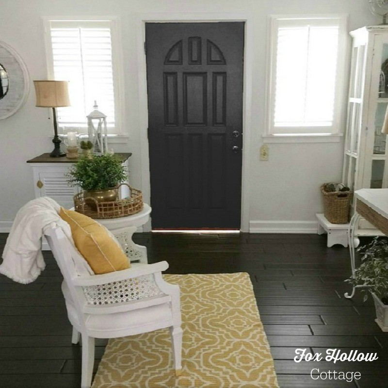 Sherwin Williams Color Visualizer - Tricorn Black - How to try a new paint color without buying samples or painting - save time money frustration - foxhollowcottage.com