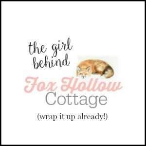 The Girl Behind Fox Hollow Cottage - living with anxiety depression and cancer - wrap it up already