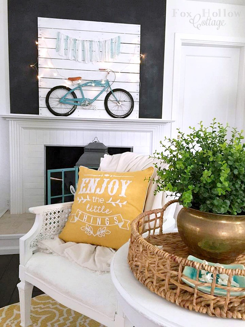 Cottage refresh | New grey door color and some Spring/Summer fun decor!! foxhollowcottage.com