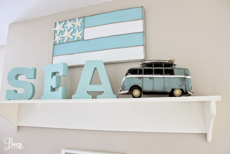SEA coastal word letter art decor