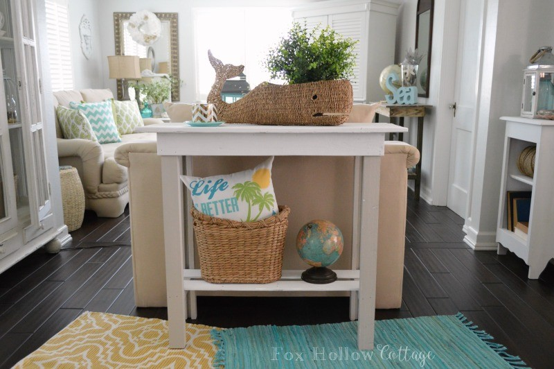 3 DIY Console Table Furniture Makeover with Americana Decor Chalky Paint
