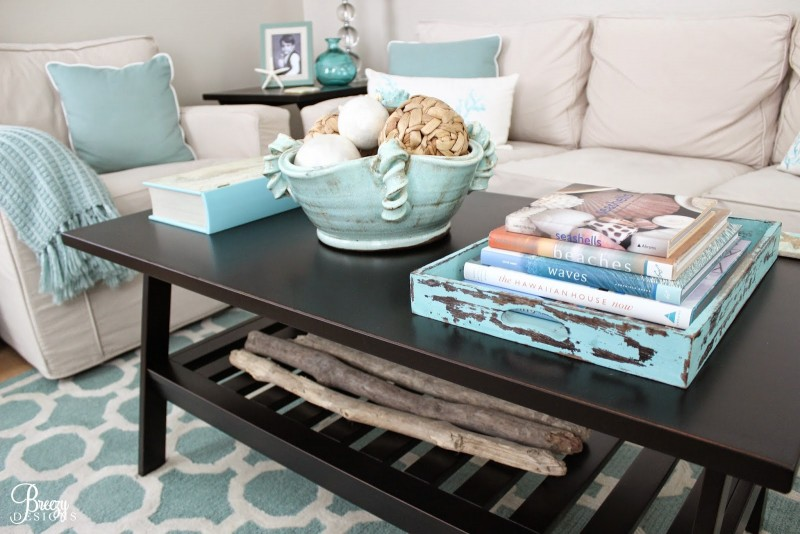 Coastal Cottage Decorating Ideas, Coffee Table Styling