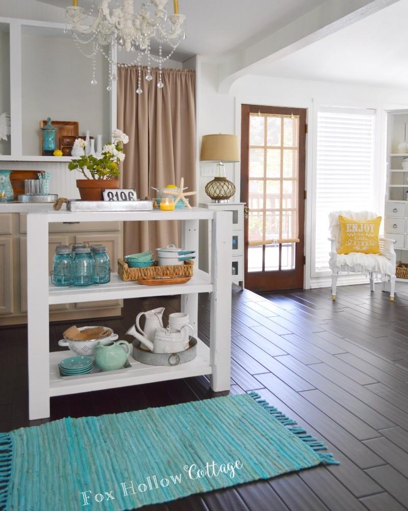 diy white wood cottage kitchen island fox hollow cottage