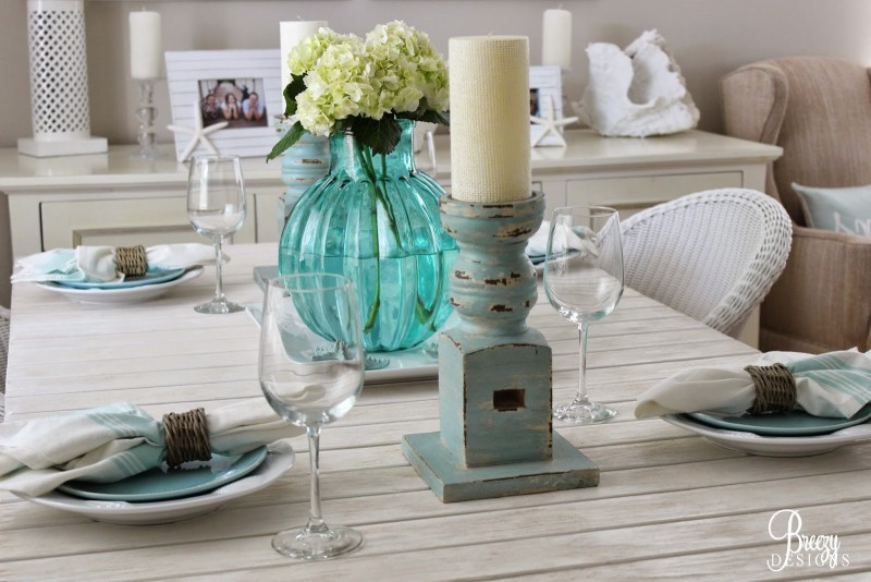 Coastal Table. Beach Chic Dining Room