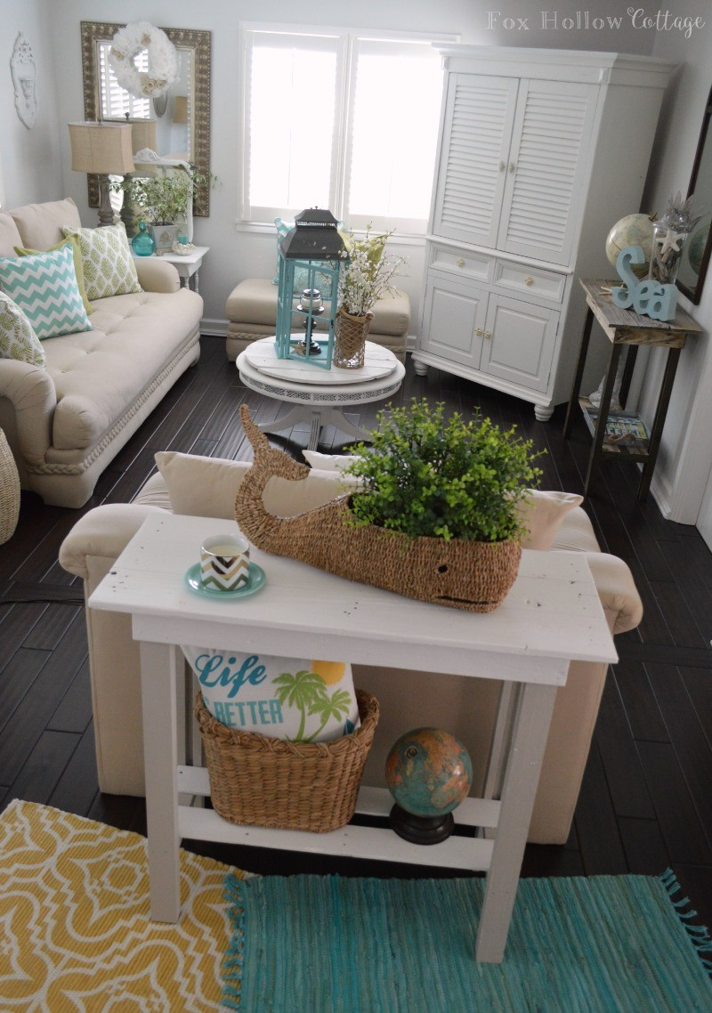 More summer decor and a diy paint makeover for Fun living room furniture