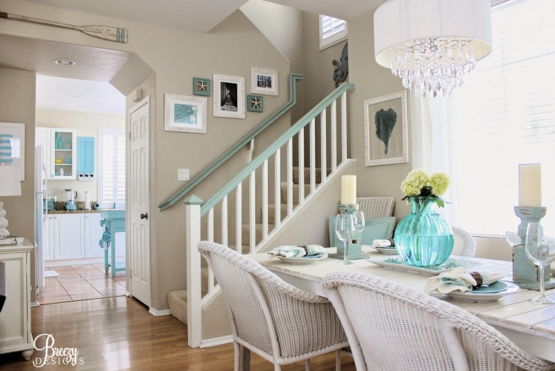 Coastal Great Room, Open Concept - Beachy Decorating Ideas