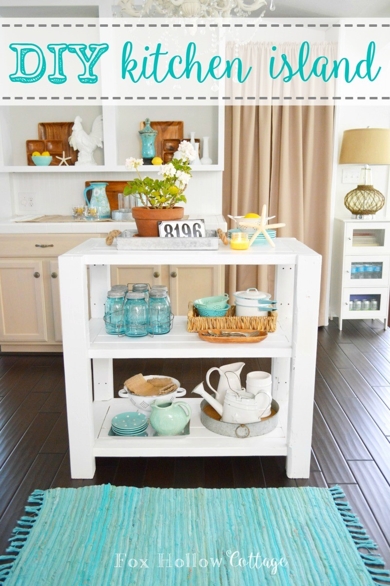 DIY Kitchen Island - foxhollowcottage.com