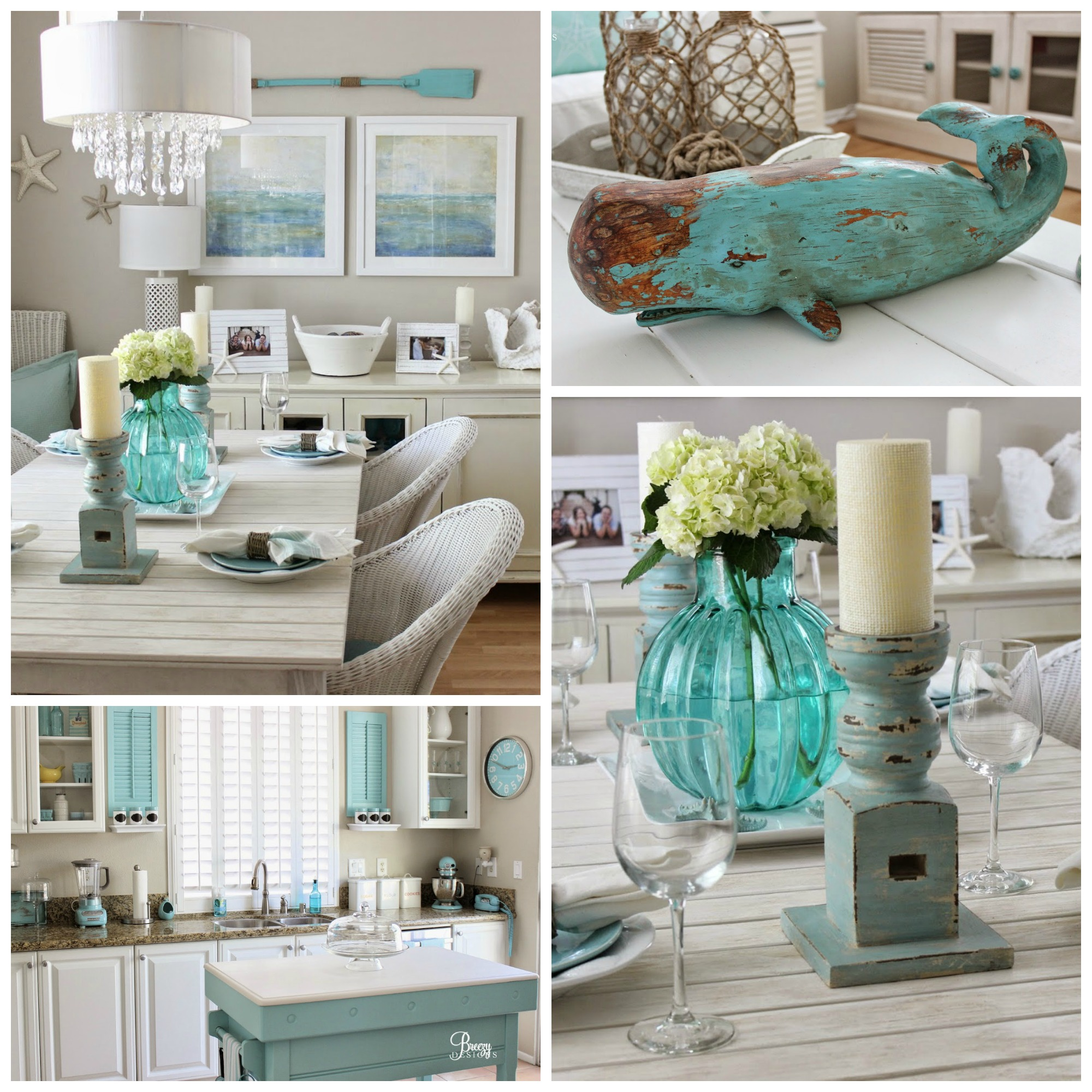 Beach chic coastal cottage home tour with breezy design for Art for house decoration