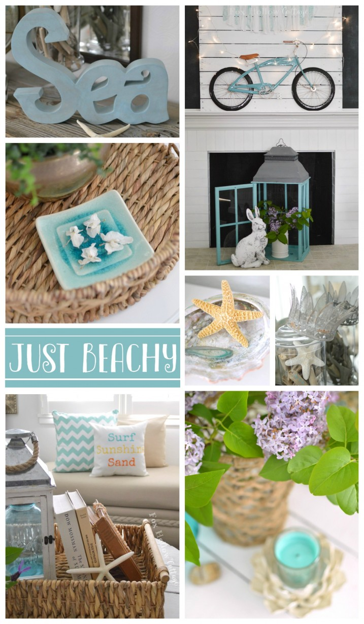 Summer Beachy Coastal Home Decor at foxhollowcottage.com .cjp