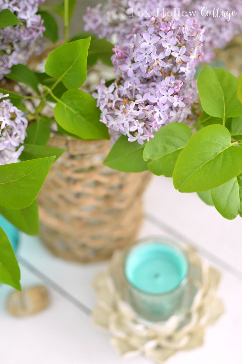 Summer Decorating Lilacs and Candles foxhollowcottage.com