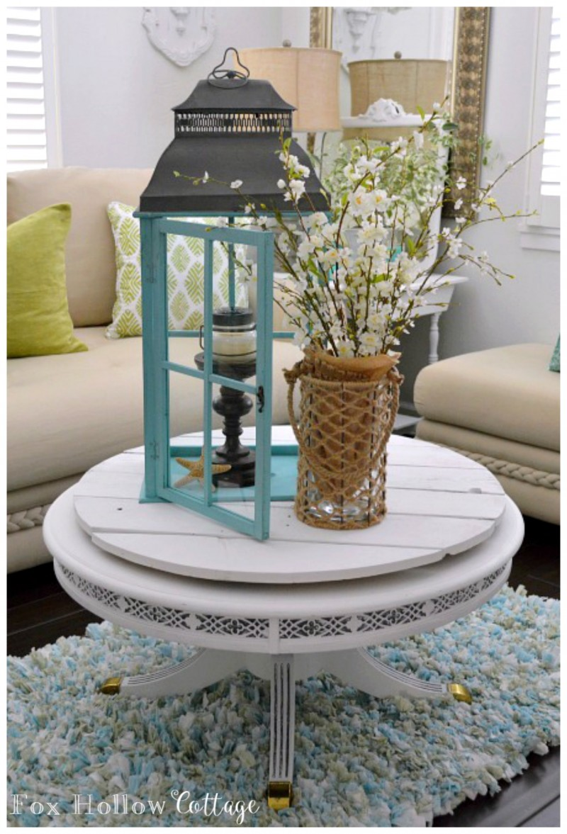 Coastal Cottage in Summer Aqua Lantern #homegoodshappy