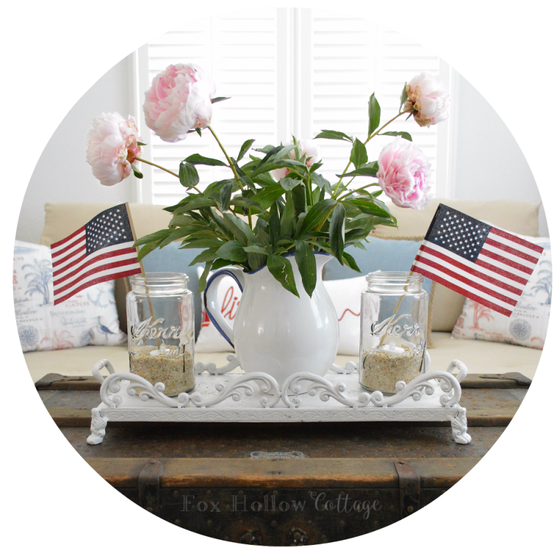 Fox Hollow Cottage - Vintage Fourth of July Home Decorating with Mason Jars