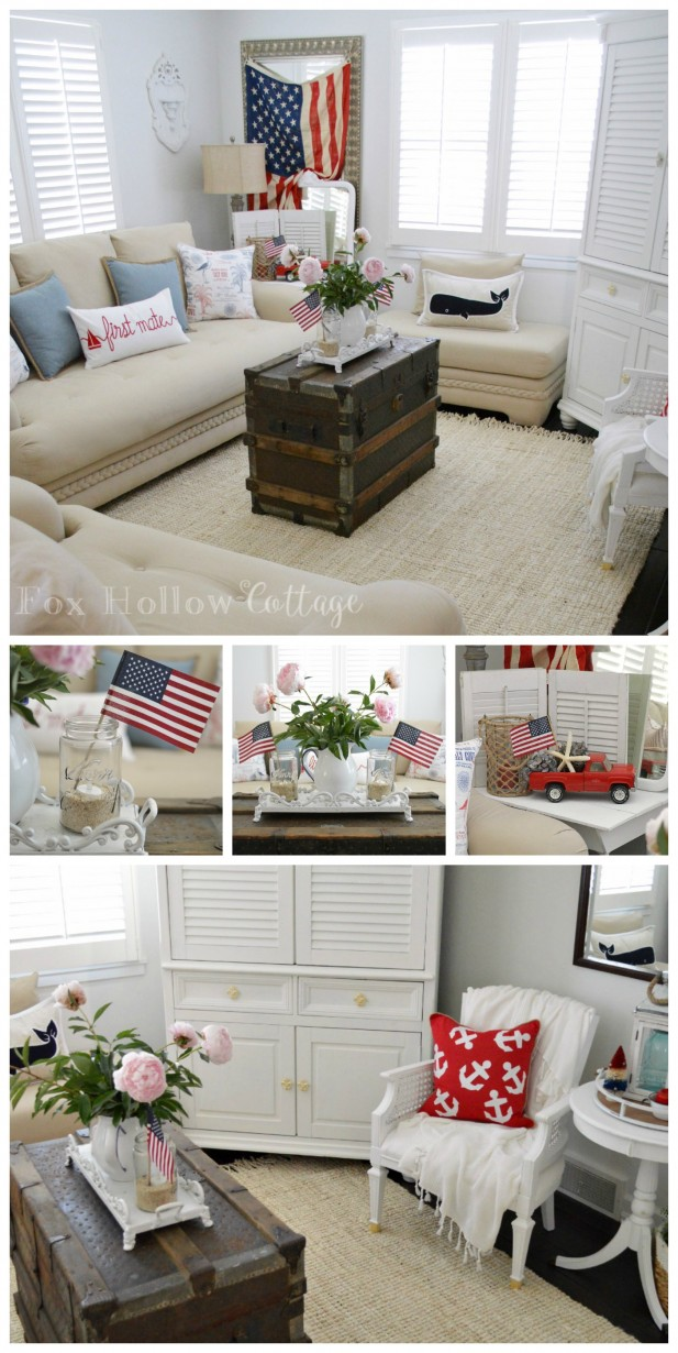 Fox Hollow Cottage - Vintage Patriotic Summer - Fourth of July Home Decorating